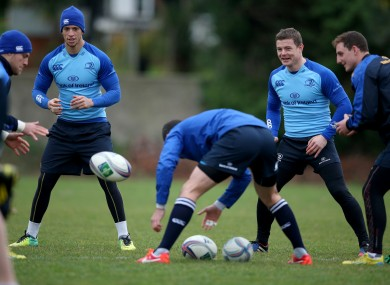 Zane Kirchner and Brian O'Driscoll will be in action for Leinster this weekend.
