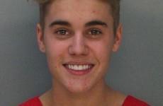 Here is Justin Bieber's police mugshot