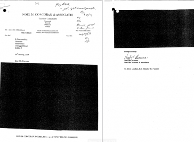 The original version of this redacted letter has been lost by the Department of Finance.