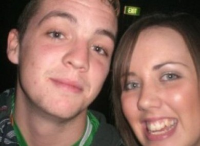 Colm Reilly and Kiara Duncan who died in the crash.