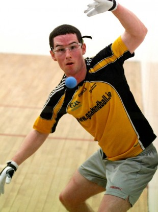 Diarmuid Nash in action.