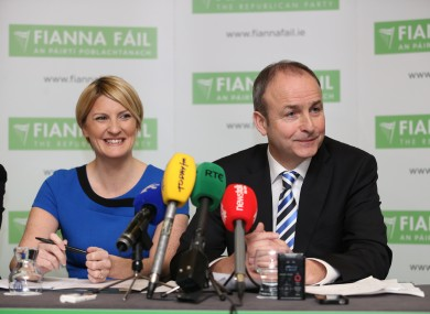 Senator Averil Power with Micheál Martin