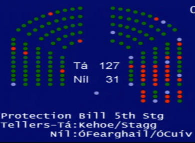 Rather than turning green or red, lights would turn a different colour, possibly black, to signify an abstention from a vote.