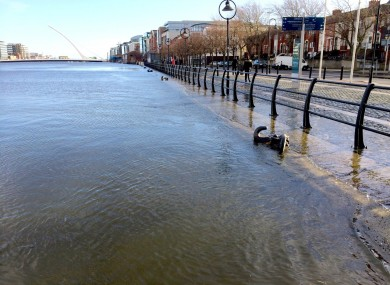 Flooded roads in Dublin city today