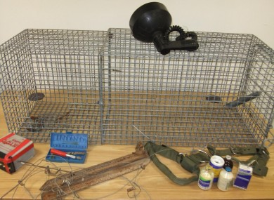Items seized by the police
