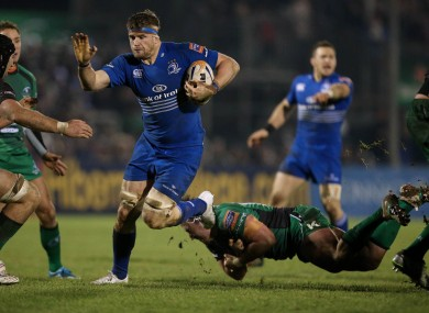 Jamie Heaslip goes on the charge against Connacht.