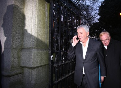 Paul Kiely (left) the former chief executive of the Dublin based Central Remedial Clinic and acting chief executive Jim Nugent (right).