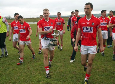 Cork captain Michael Shields are their recent McGrath Cup win.