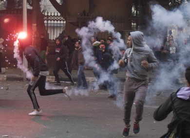 Egyptian anti-military protesters, mostly supporters of ousted Islamist President Mohammed Morsi, clash with security forces in downtown Cairo earlier this week
