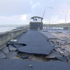 Storm damage at Lahinch, Co.Clare at the start of January