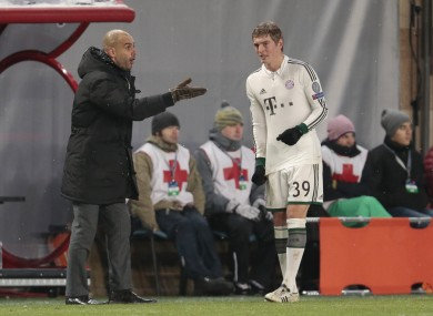 Guardiola says he could lose Kroos.