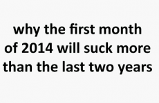 Here's why the first month of 2014 is going to be worse than last year