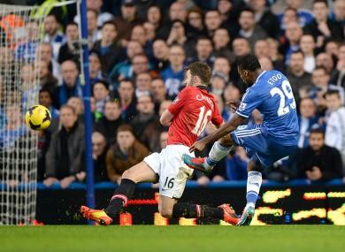 Samuel Eto'o scores Chelsea's first.