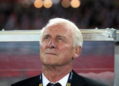 Giovanni Trapattoni stepped down as Ireland boss following the side's failure to qualify for the 2014 World Cup.