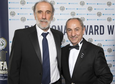 Villa (left) and Ardiles at the PFA awards last year.