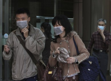 Taiwanese people wear masks at National Taiwan University Hospital in Taipei. (File)