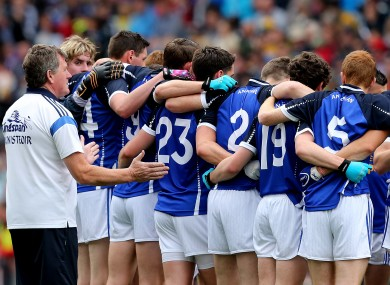 Cavan manager Terry Hyland with his team.