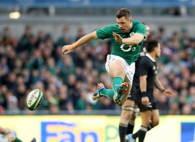 Tommy Bowe has been out of action since Ireland's defeat to New Zealand