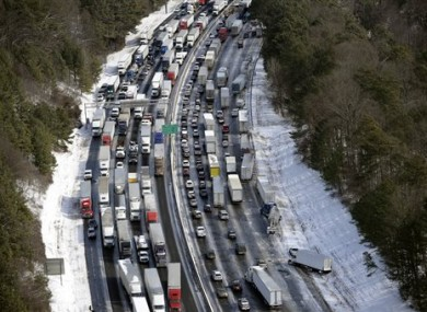 Traffic was gridlocked in the Atlanta metro area