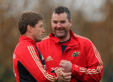Ronan O'Gara and Anthony Foley pictured in 2011.