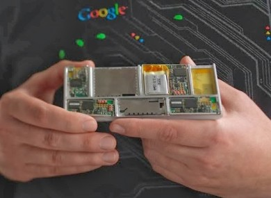 An example of how a Project Ara phone would look.