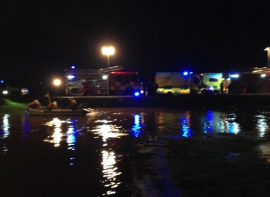The scene of the search in Carlow last night