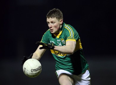 Conor Cox starts for Kerry this weekend.