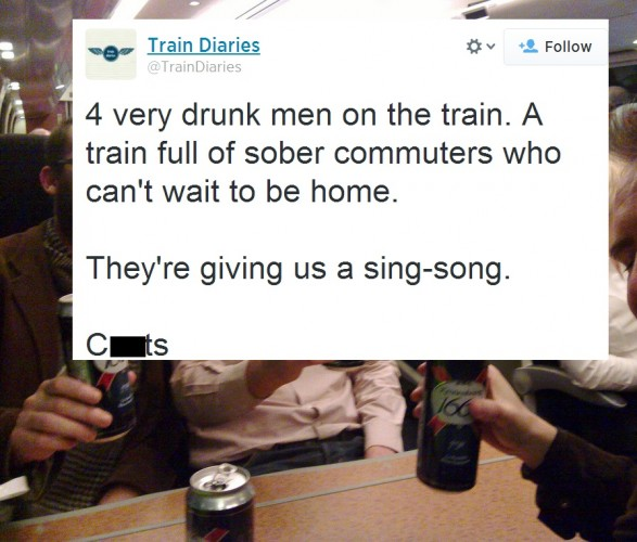 drinking on the train for my leaving do