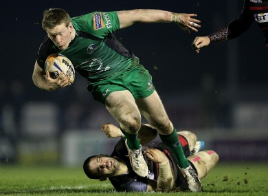 Connacht's Eoin Griffin and Cornell du Preez of Edinburgh.
