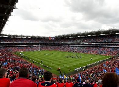Munster faced Leinster in Croke Park in 2009.