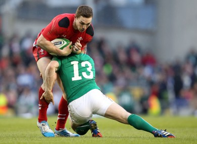 George North will wear 13 for Wales.