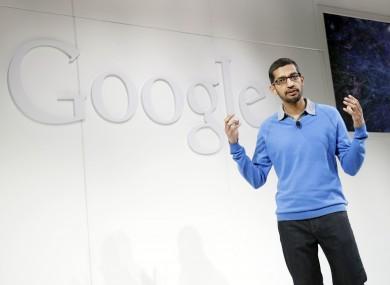Sundar Pichai, speaking at a Google event in 2013