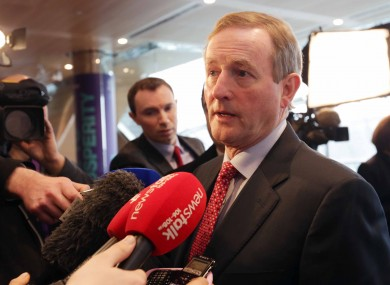 An Taoiseach Enda Kenny speaks to the media at the IBEC CEO Conference at the Convention Centre in Dublin this morning
