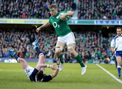 Heaslip came agonisingly close to scoring a try for Ireland.
