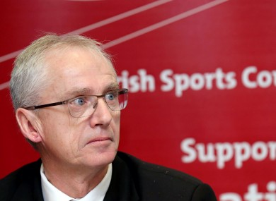Irish Sports Council CEO John Treacy at their funding announcement for 2014.
