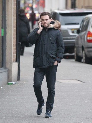 Juan Mata in Manchester city centre on Monday afternoon.