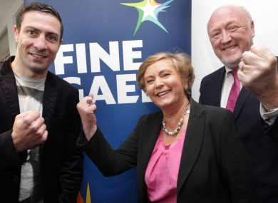 Egan with the Minister for Children and Dublin Mid West TD Frances Fitzgerald and Fine Gael TD Derek Keating