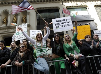St. Patrick's Day Parade in 2012 in New York.