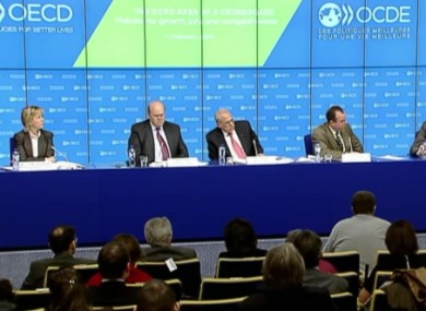 Michael Noonan at the OECD seminar today.