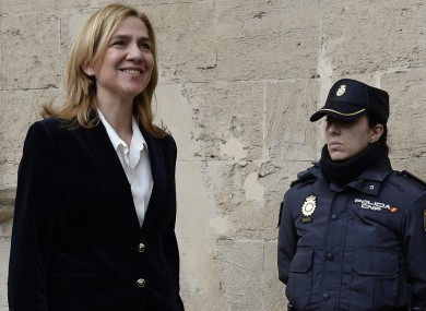 Princess Cristina arrives at the courthouse this morning