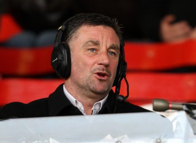 Seeing red: Former Liverpool player John Aldridge at Anfield.