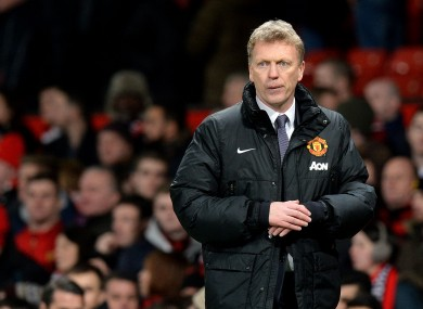 Under pressure: Manchester United manager David Moyes on the sideline at the weekend.