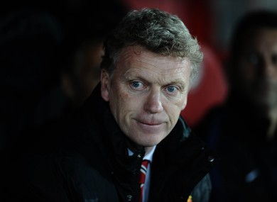David Moyes: another bad night on the United bench.
