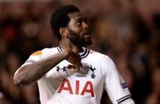 Adebayor inspires stunning Spurs comeback in Europa League