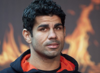 Diego Costa, pictured during a boots promotional event in Madrid.