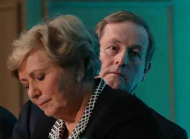 Enda Kenny behind Children's Minister Frances Fitzgerald. It's not been a great week for the Taoiseach.