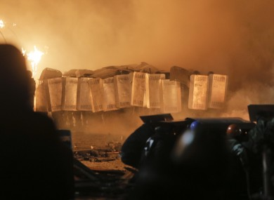 Riot police storm Independence Square
