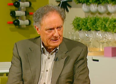 Vincent Browne appearing on the Late Lunch Live earlier today.