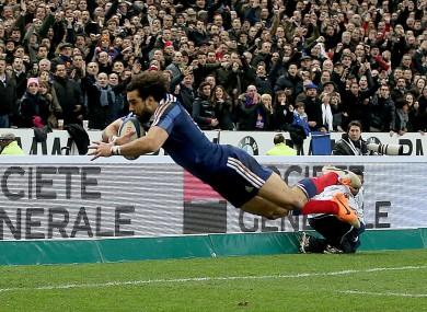Yoann Huget scored two tries in France's win over England.