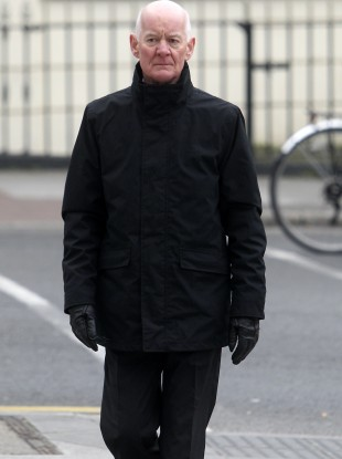 Former Financial Services Regulatory Patrick Neary arriving at the Dublin Circuit Criminal Court this morning.